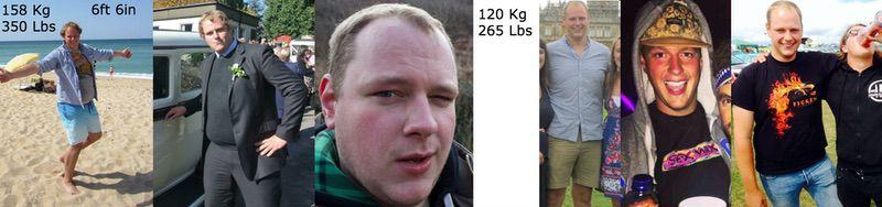6 foot 6 Male Progress Pics of 85 lbs Weight Loss 350 lbs to 265 lbs