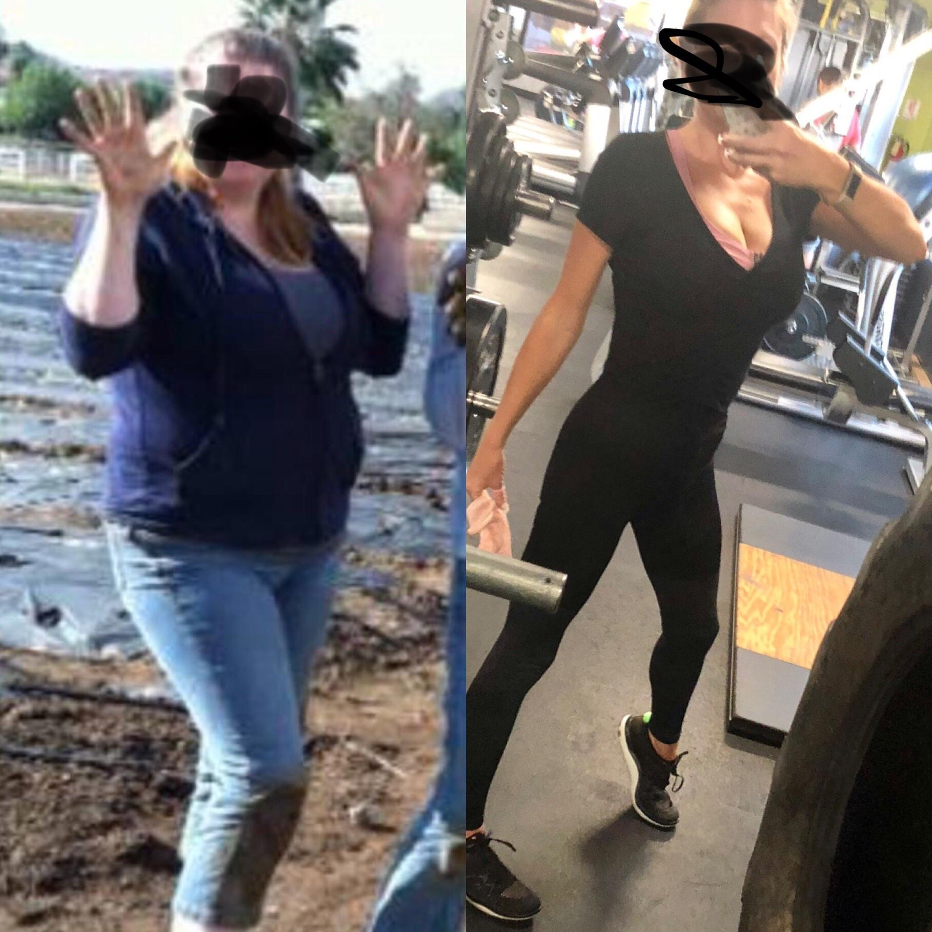 5'7 Female 95 lbs Weight Loss 220 lbs to 125 lbs