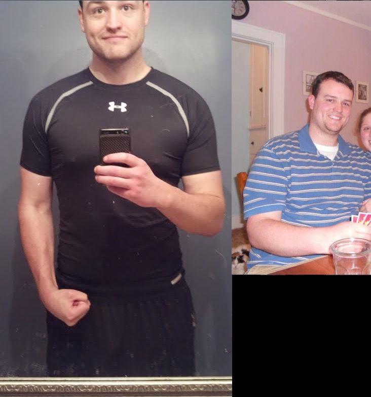 80 lbs Fat Loss 6 feet 8 Male 305 lbs to 225 lbs