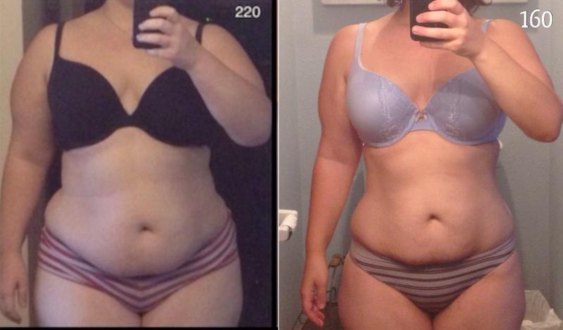 60 lbs Fat Loss 5 feet 2 Female 220 lbs to 160 lbs