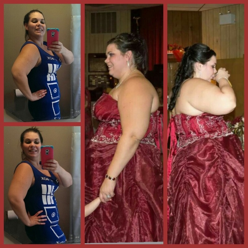 Progress Pics of 85 lbs Weight Loss 5 feet 8 Female 287 lbs to 202 lbs