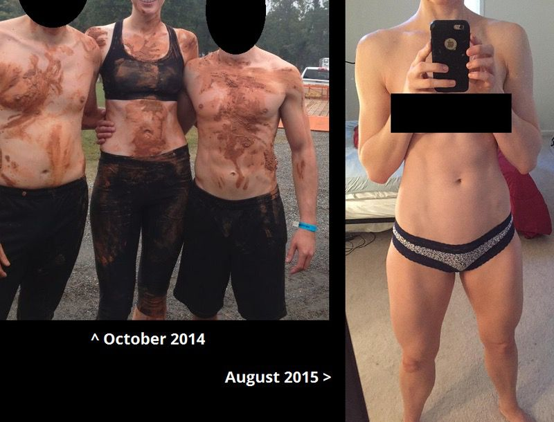 Before and After 20 lbs Muscle Gain 6'1 Female 150 lbs to 170 lbs