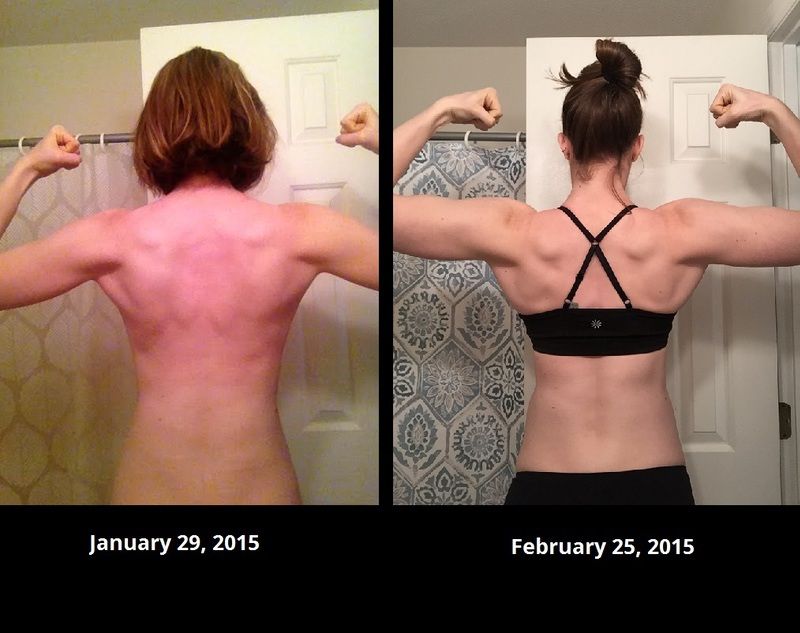 25 lbs Muscle Gain Before and After 6 feet 1 Female 145 lbs to 170 lbs