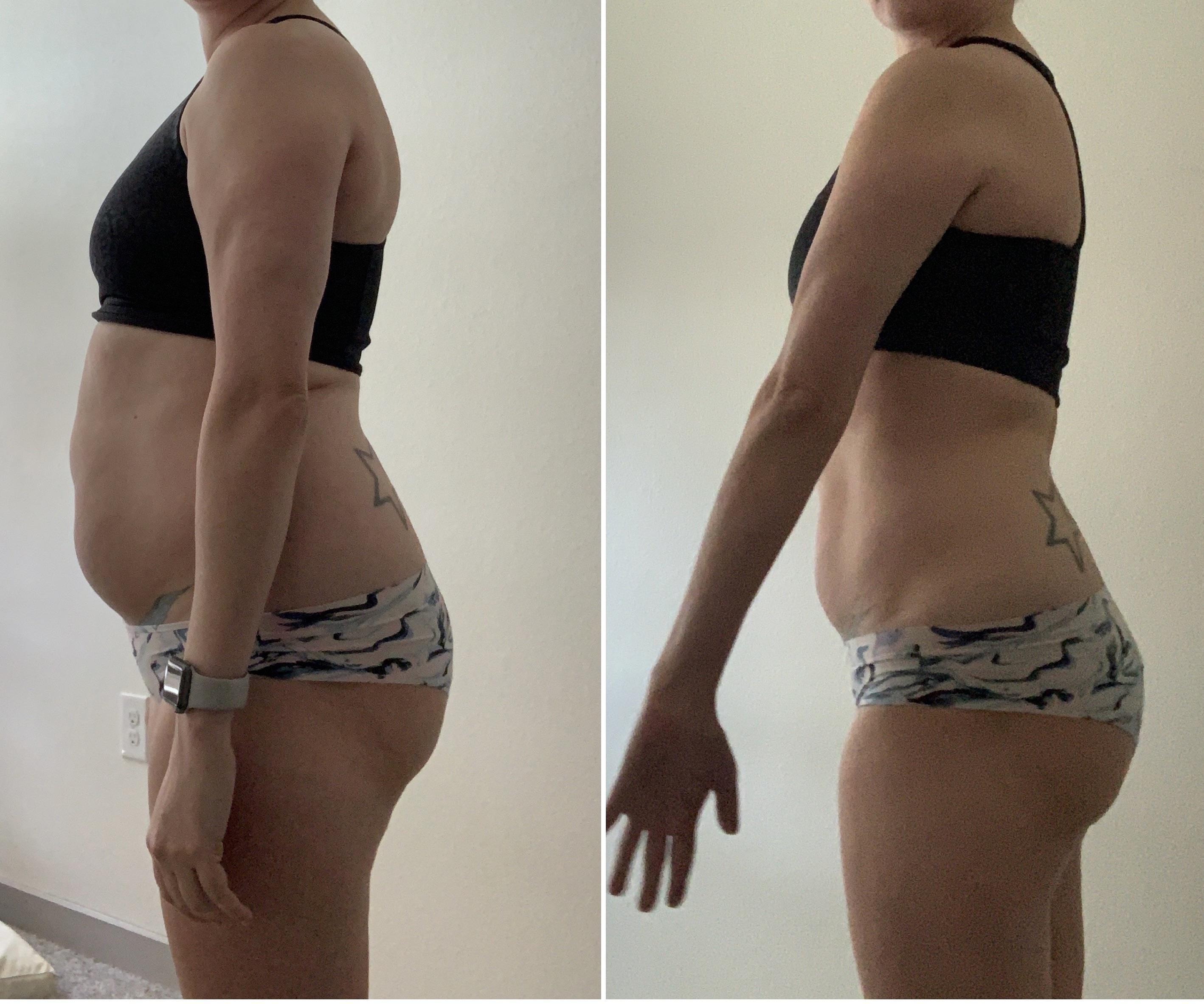 5 feet 5 Female Progress Pics of 15 lbs Weight Loss 151 lbs to 136 lbs