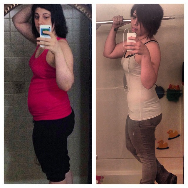 25 lbs Fat Loss Before and After 5'2 Female 170 lbs to 145 lbs