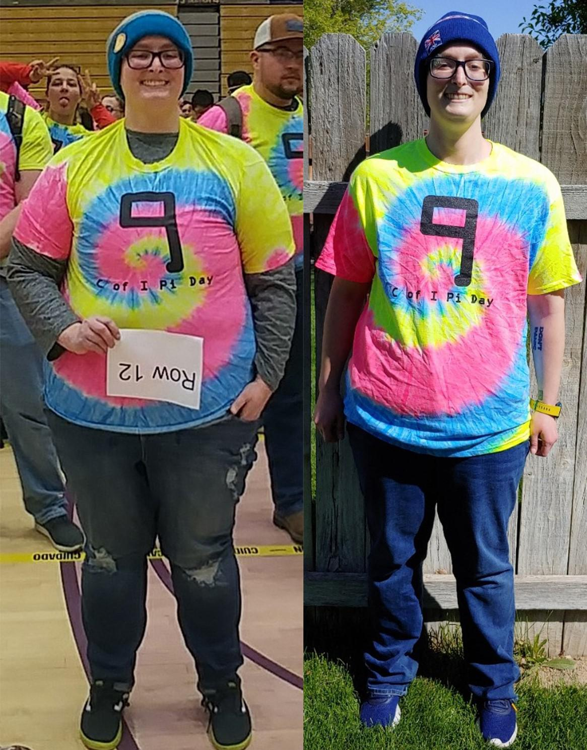 100 lbs Weight Loss Before and After 5'10 Female 303 lbs to 203 lbs