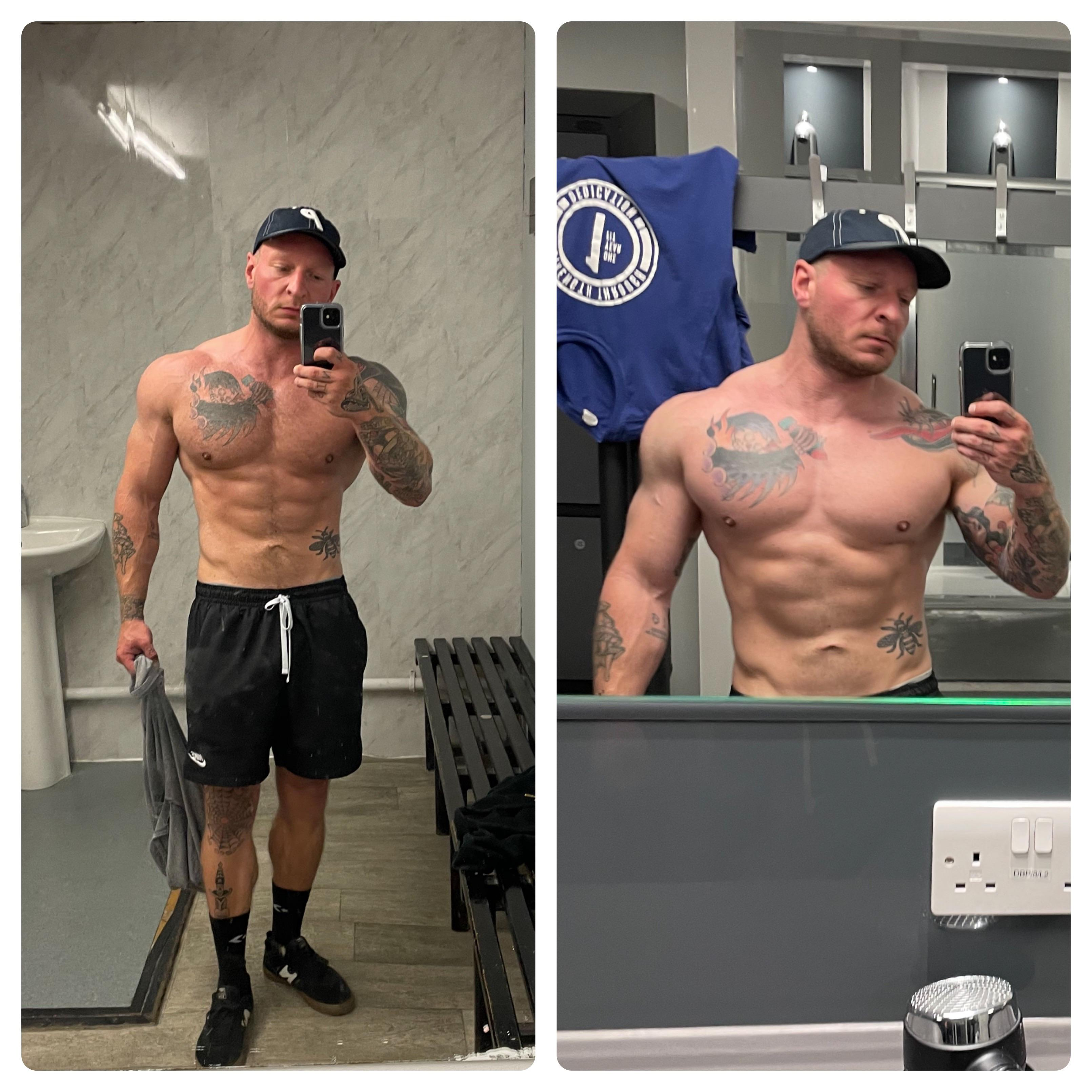 Progress Pics of 20 lbs Weight Gain 5'9 Male 180 lbs to 200 lbs