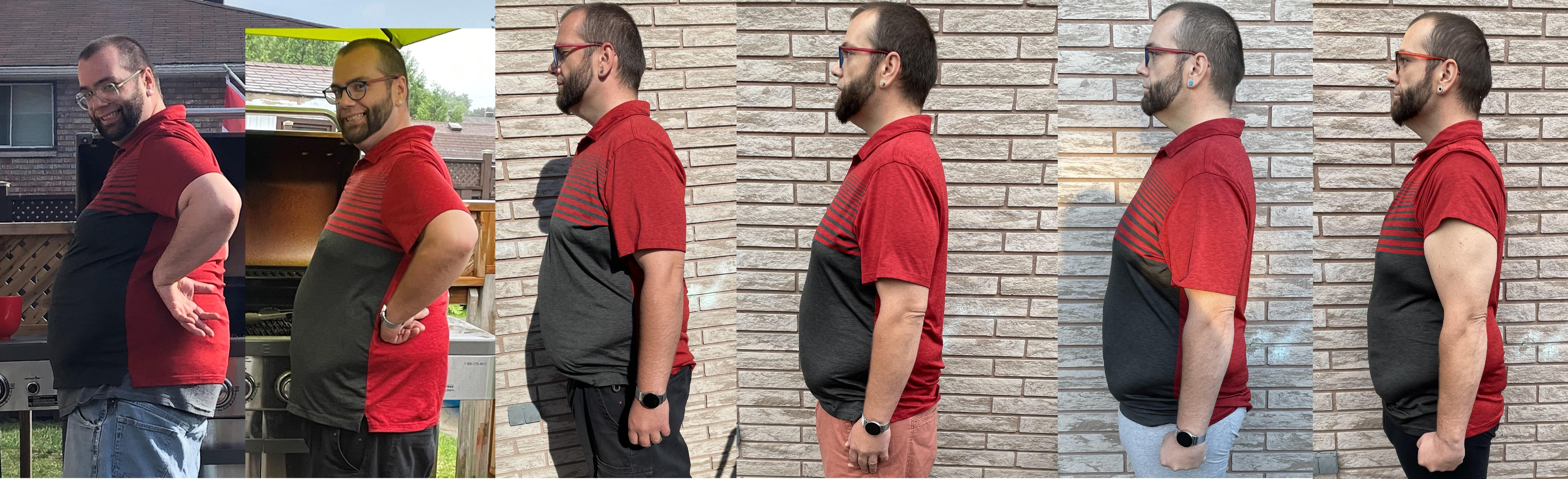 80 lbs Fat Loss 5 foot 10 Male 299 lbs to 219 lbs