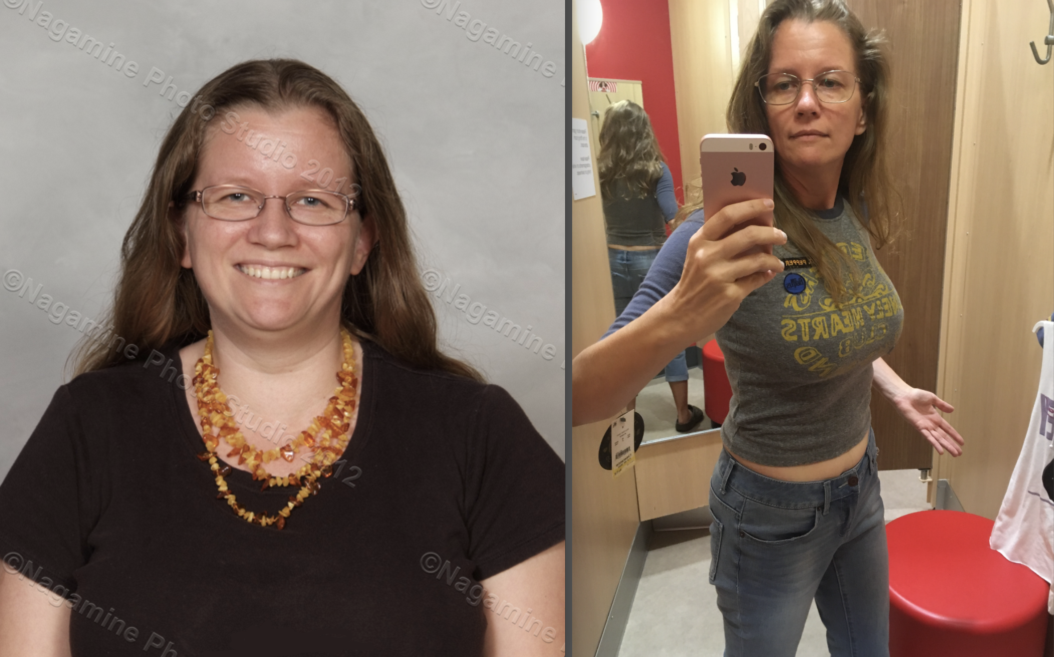 65 lbs Fat Loss Before and After 5'4 Female 185 lbs to 120 lbs