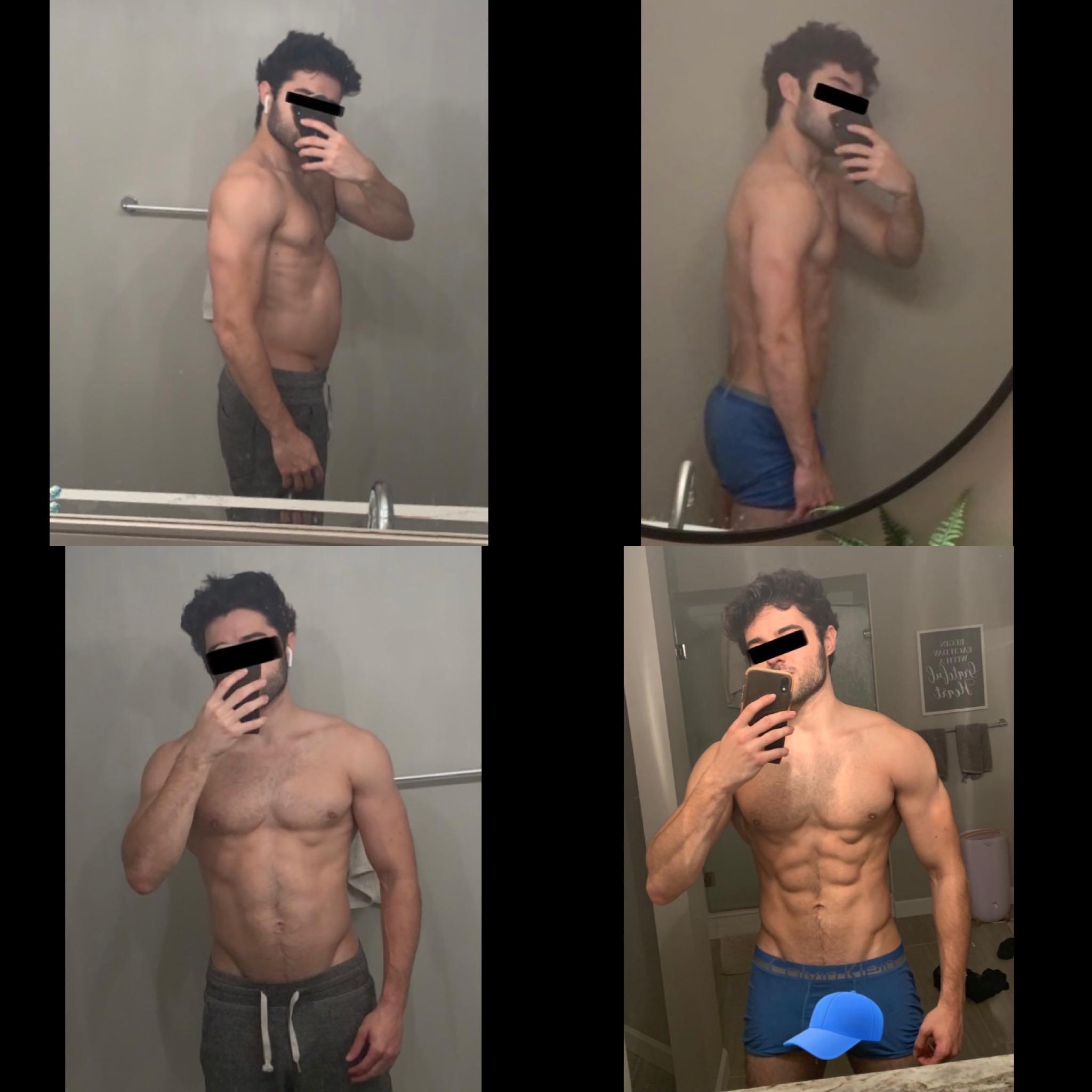 5 feet 9 Male Progress Pics of 2 lbs Fat Loss 165 lbs to 163 lbs