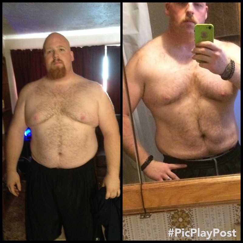 5'11 Male Before and After 75 lbs Fat Loss 310 lbs to 235 lbs