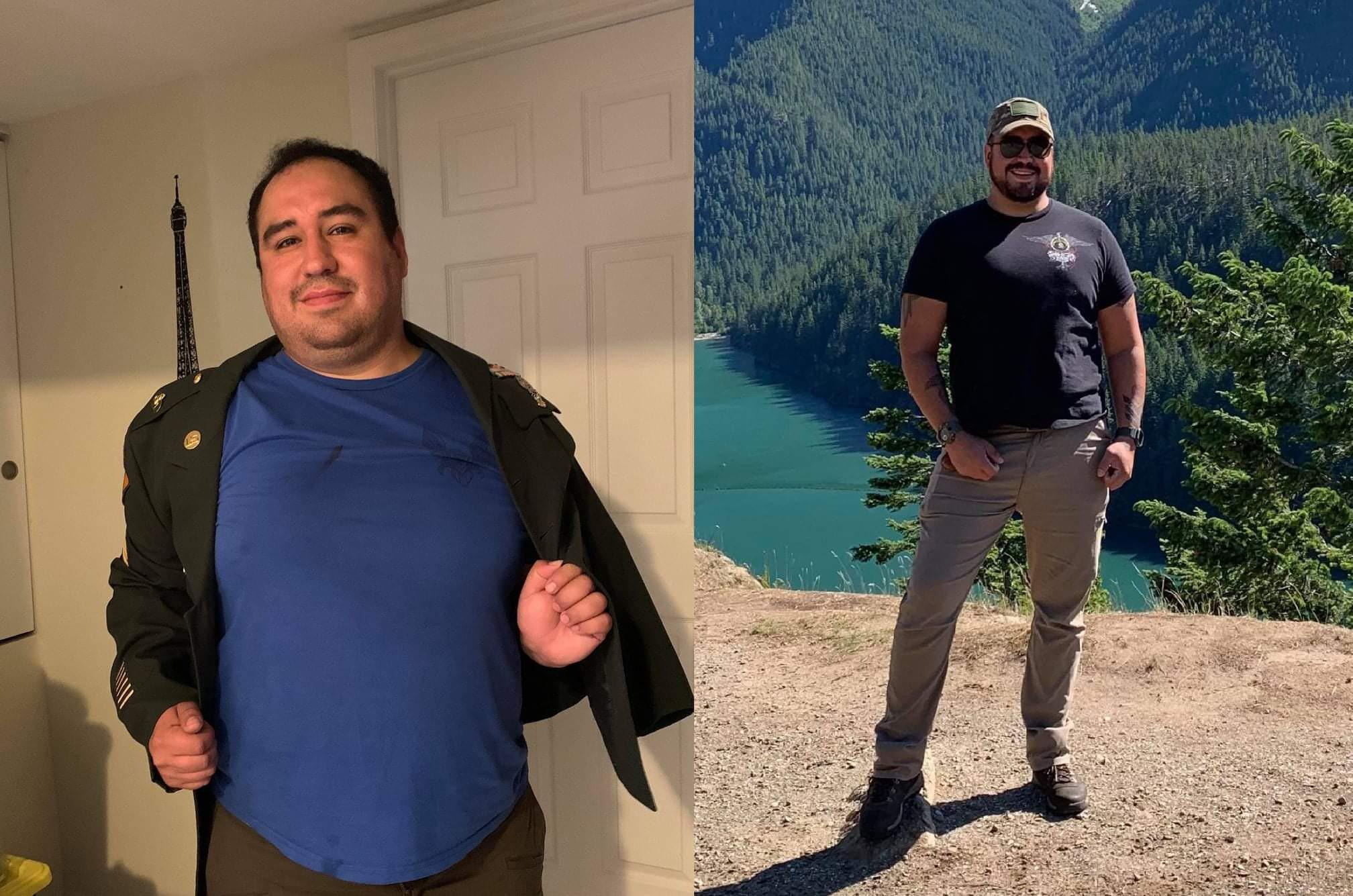 5 foot 11 Male Before and After 38 lbs Fat Loss 290 lbs to 252 lbs