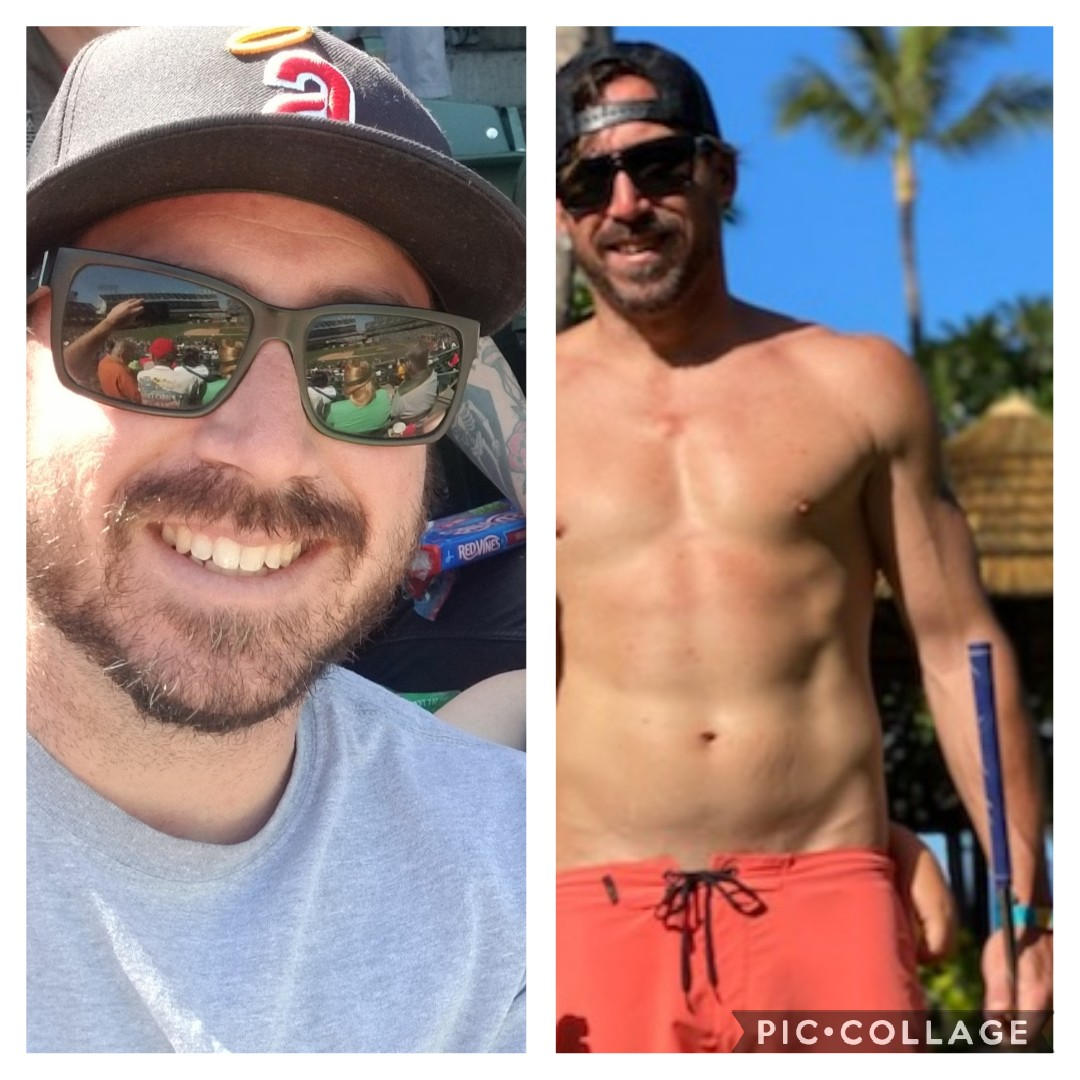5 foot 10 Male 50 lbs Weight Loss Before and After 210 lbs to 160 lbs