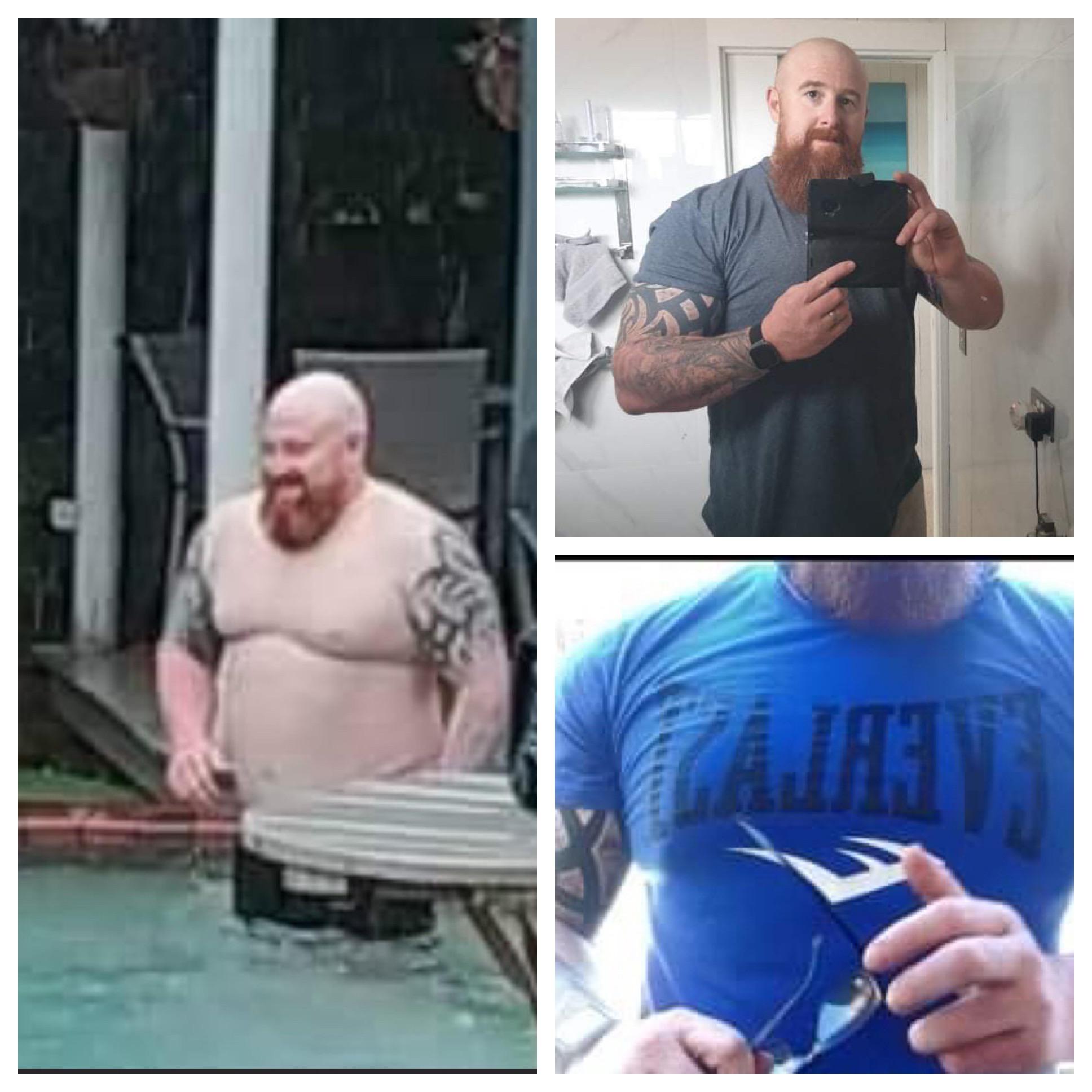 6 feet 2 Male Progress Pics of 62 lbs Weight Loss 327 lbs to 265 lbs