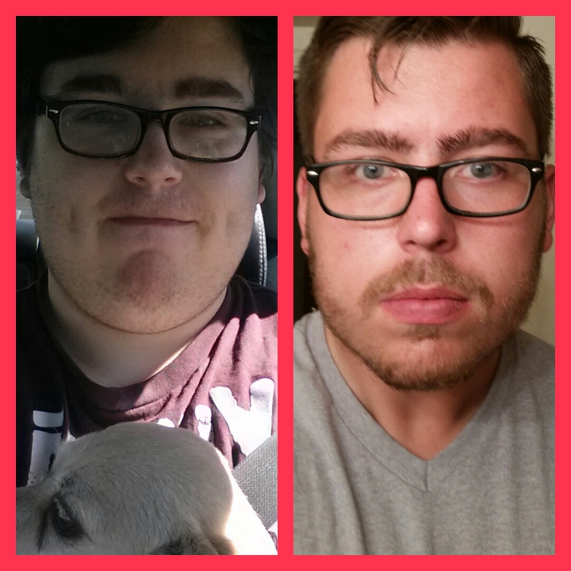 100 lbs Fat Loss Before and After 6 foot 5 Male 382 lbs to 282 lbs