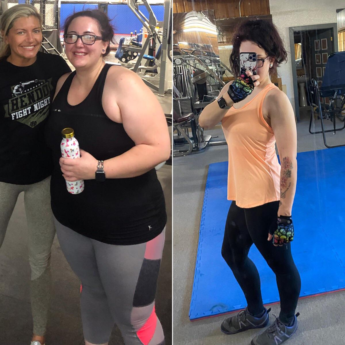 5 foot 5 Female Before and After 125 lbs Weight Loss 273 lbs to 148 lbs