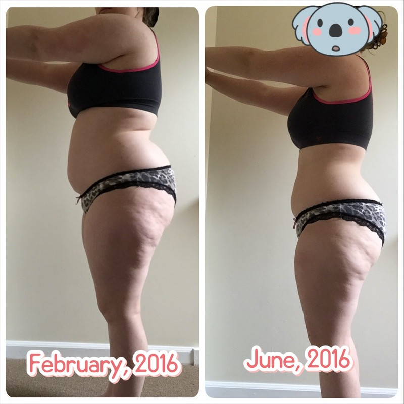 30 lbs Fat Loss Before and After 4 feet 11 Female 178 lbs to 148 lbs