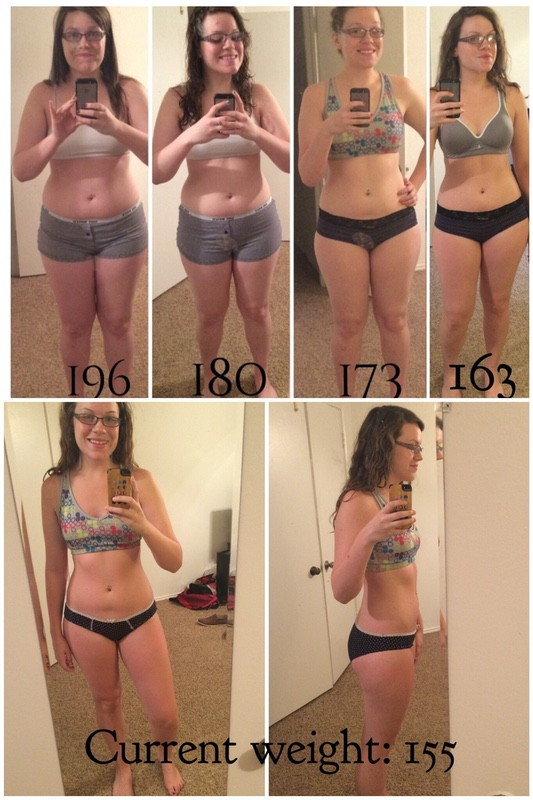 Before and After 41 lbs Weight Loss 5 foot 8 Female 196 lbs to 155 lbs