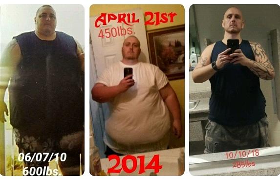 Progress Pics of 315 lbs Weight Loss 5 feet 11 Male 600 lbs to 285 lbs