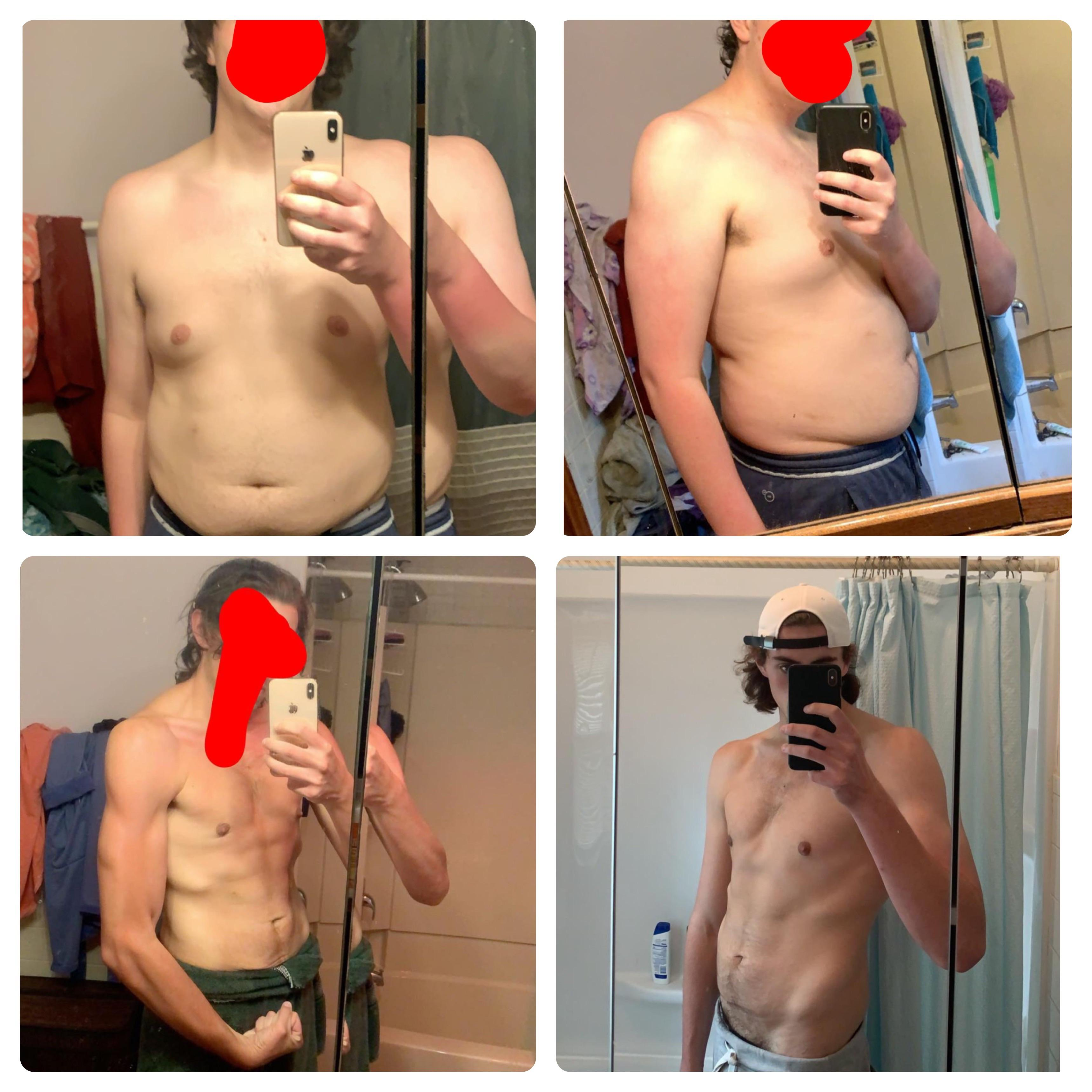 6'4 Male Before and After 140 lbs Weight Loss 320 lbs to 180 lbs