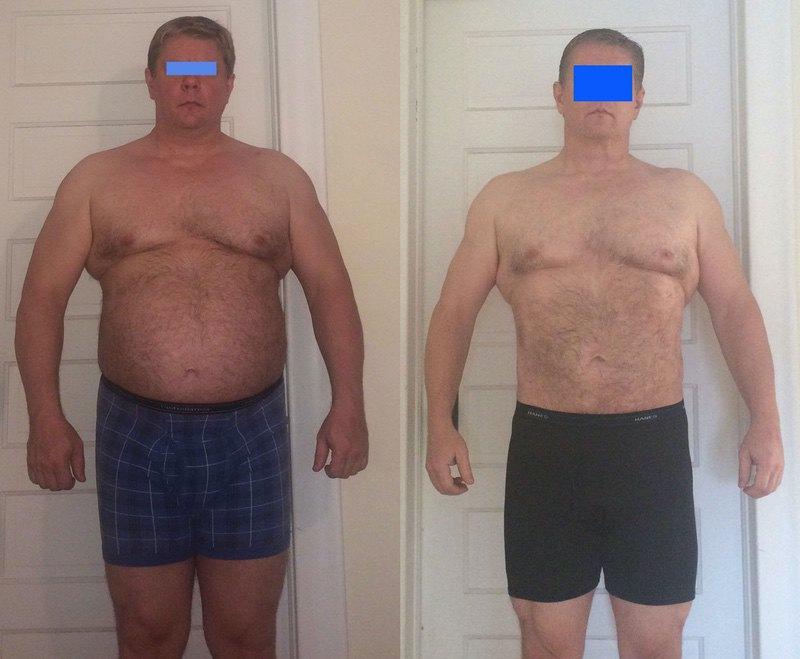 6 feet 1 Male 42 lbs Fat Loss 283 lbs to 241 lbs