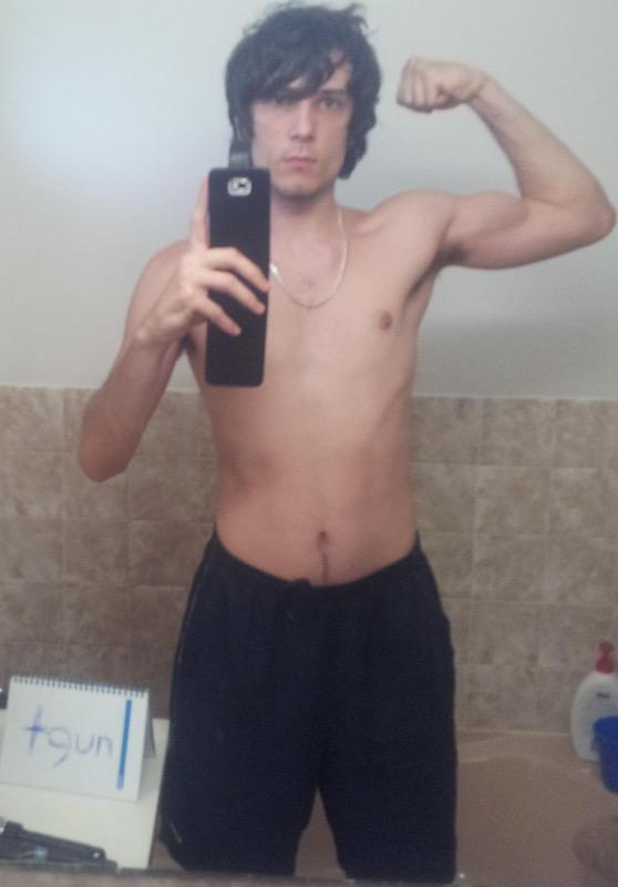2 Pics of a 6 feet 1 160 lbs Male Weight Snapshot
