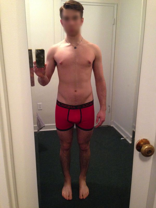 5'7 Male Before and After 30 lbs Weight Gain 127 lbs to 157 lbs