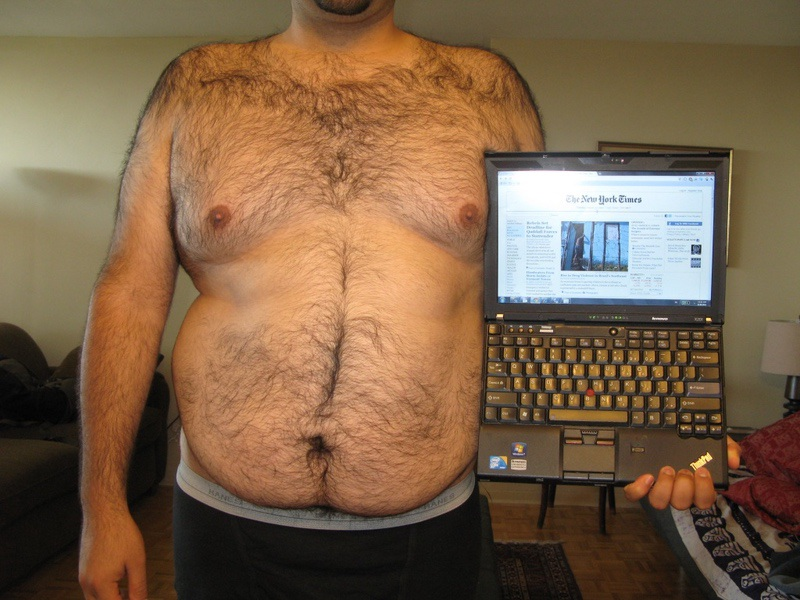 5 Pictures of a 6'1 260 lbs Male Weight Snapshot