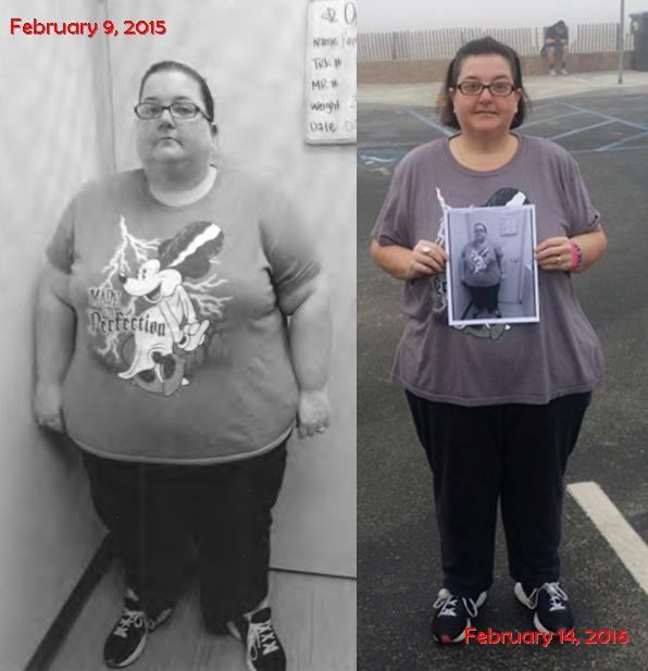 Before and After 140 lbs Weight Loss 5 foot 2 Female 397 lbs to 257 lbs