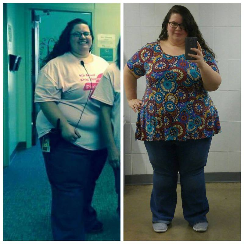 5'4 Female Before and After 36 lbs Weight Loss 378 lbs to 342 lbs