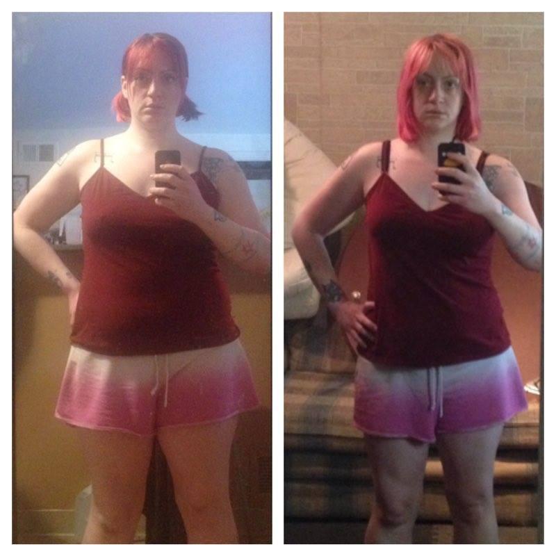 Progress Pics of 16 lbs Fat Loss 5'4 Female 184 lbs to 168 lbs