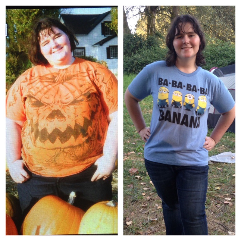 5'8 Female Before and After 151 lbs Weight Loss 377 lbs to 226 lbs
