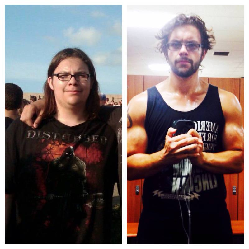 6'3 Male 56 lbs Fat Loss Before and After 272 lbs to 216 lbs