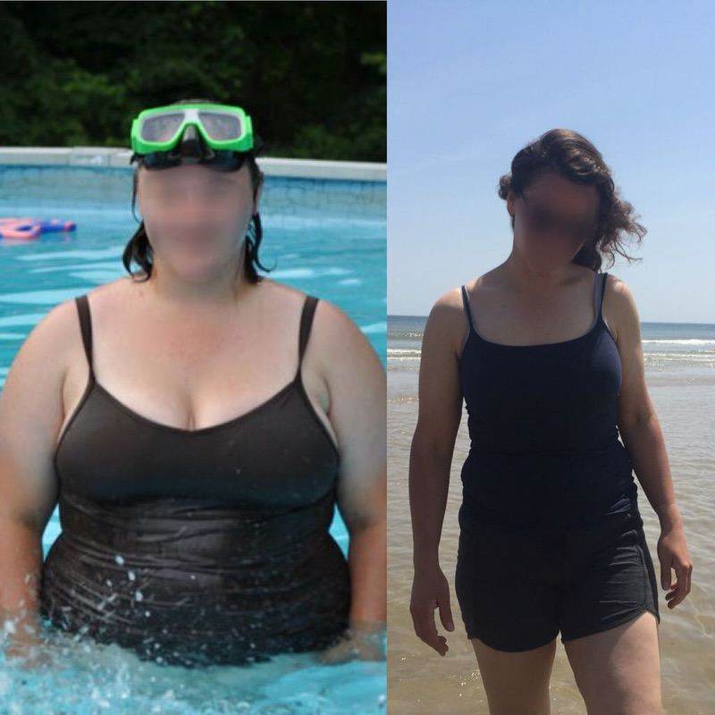 119 lbs Fat Loss 5 foot 11 Female 304 lbs to 185 lbs