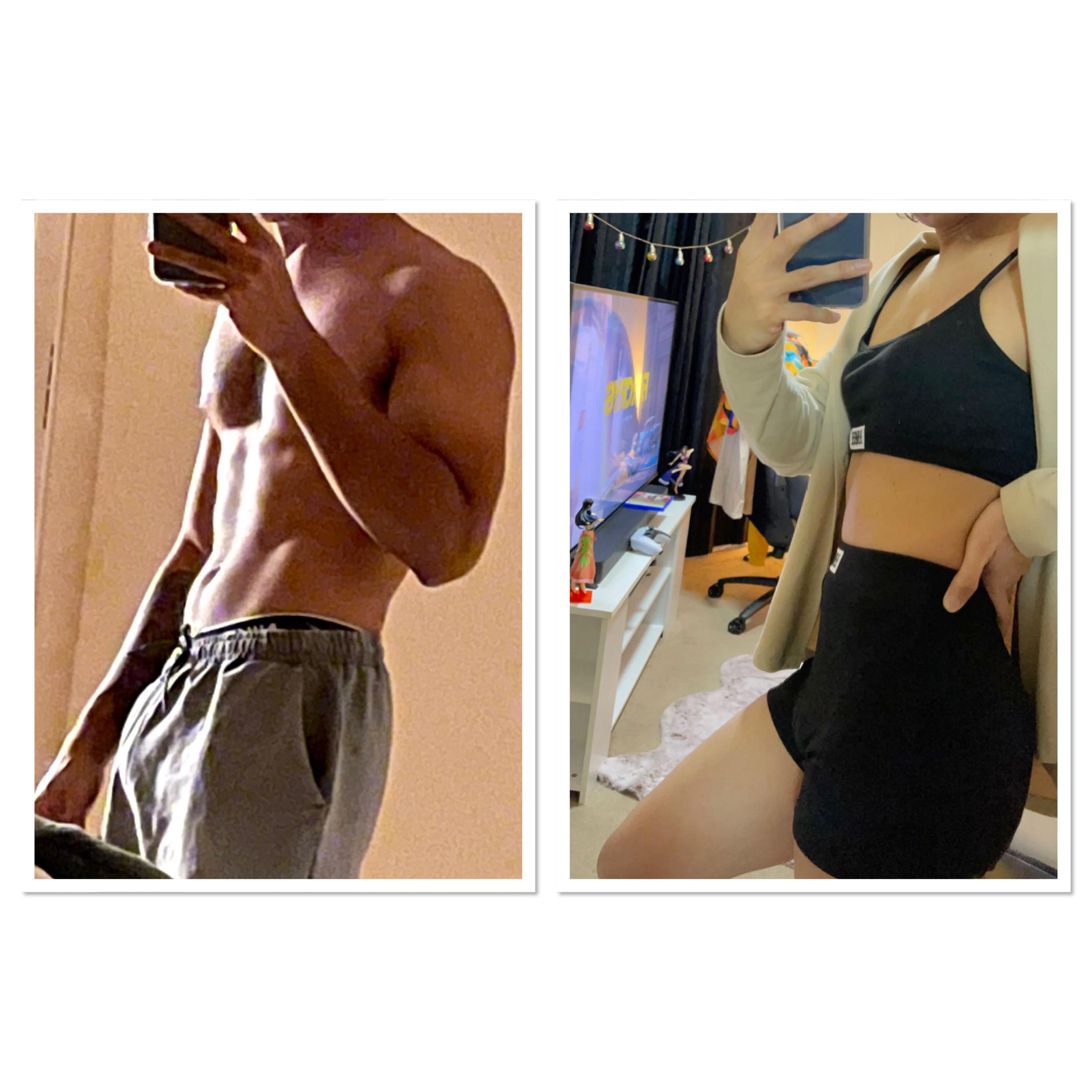 5'8 Female 28 lbs Fat Loss 165 lbs to 137 lbs