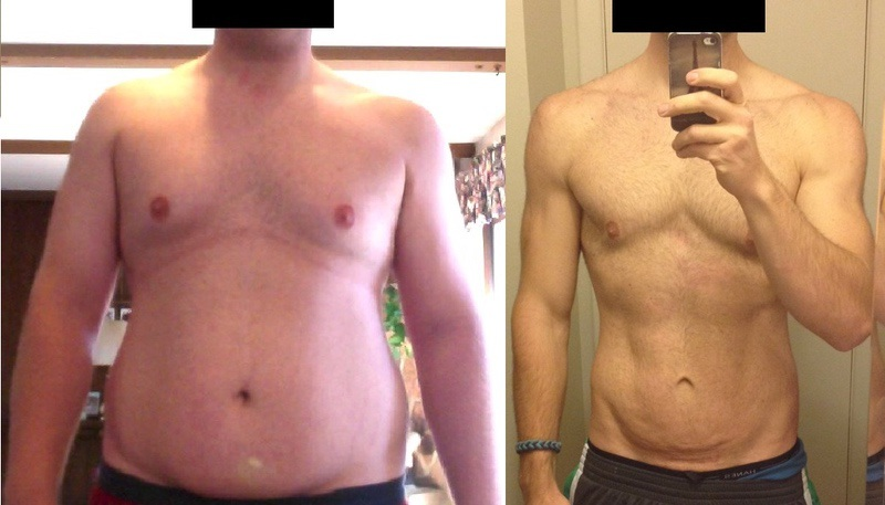 Before and After 118 lbs Weight Loss 6 foot 2 Male 315 lbs to 197 lbs