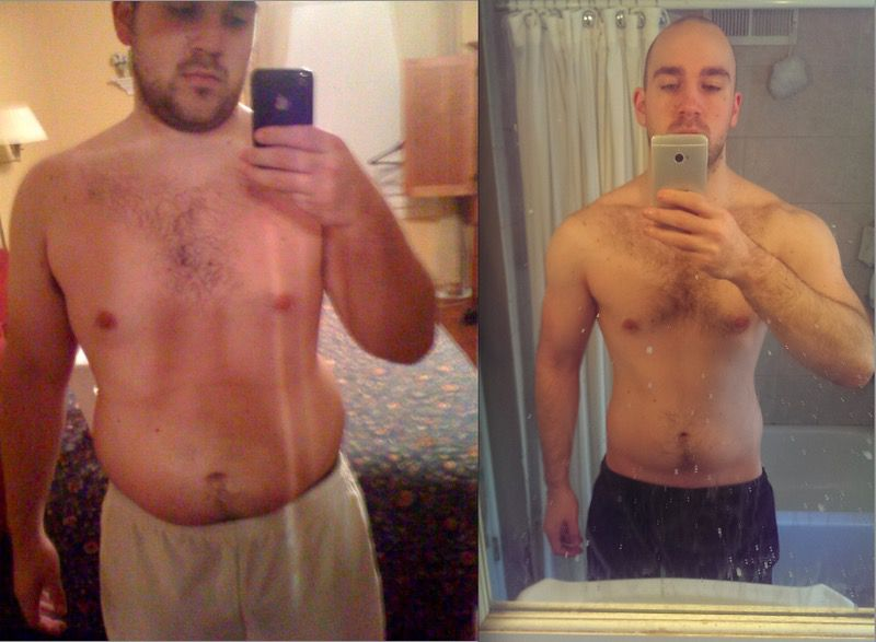 5'10 Male Before and After 71 lbs Weight Loss 231 lbs to 160 lbs