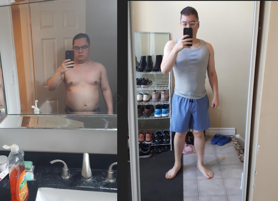 5 feet 4 Male Progress Pics of 45 lbs Weight Loss 190 lbs to 145 lbs