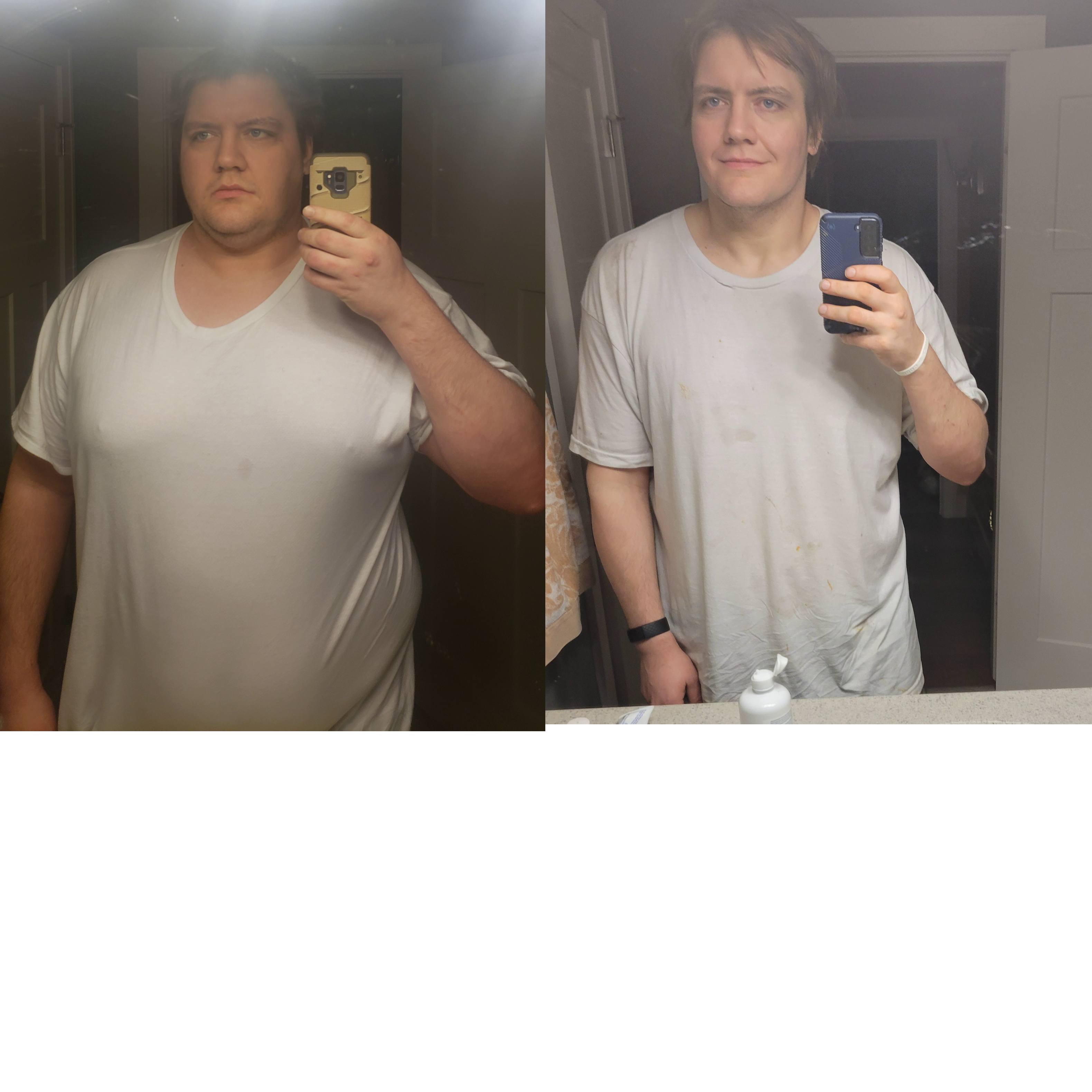 6'2 Male 123 lbs Fat Loss Before and After 358 lbs to 235 lbs