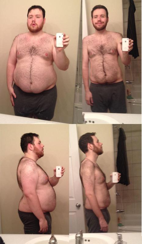 5 feet 11 Male Before and After 120 lbs Fat Loss 308 lbs to 188 lbs