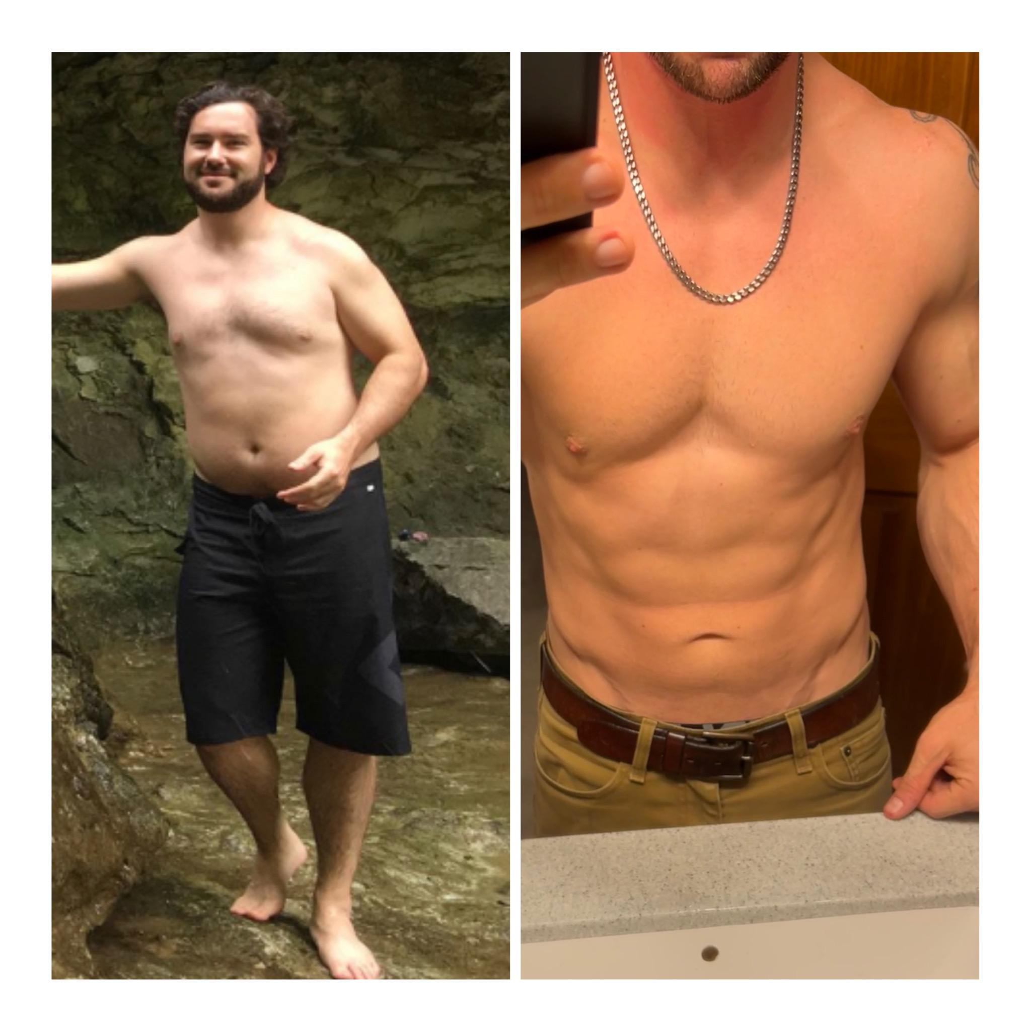 5 foot 10 Male 45 lbs Weight Loss Before and After 220 lbs to 175 lbs