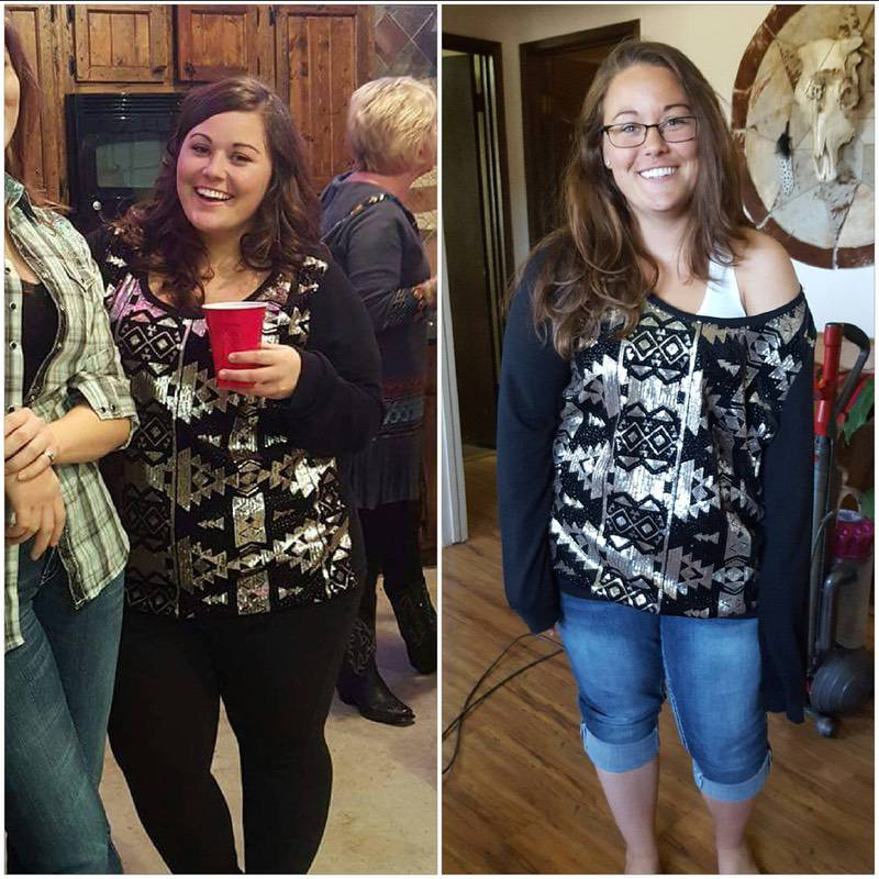 5 feet 1 Female 60 lbs Fat Loss Before and After 233 lbs to 173 lbs