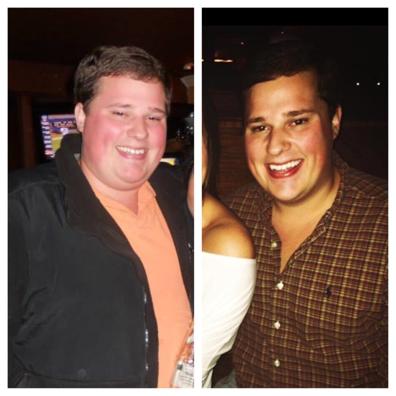 Before and After 68 lbs Weight Loss 5 foot 9 Male 299 lbs to 231 lbs