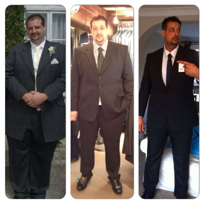 Before and After 93 lbs Fat Loss 6 feet 4 Male 365 lbs to 272 lbs