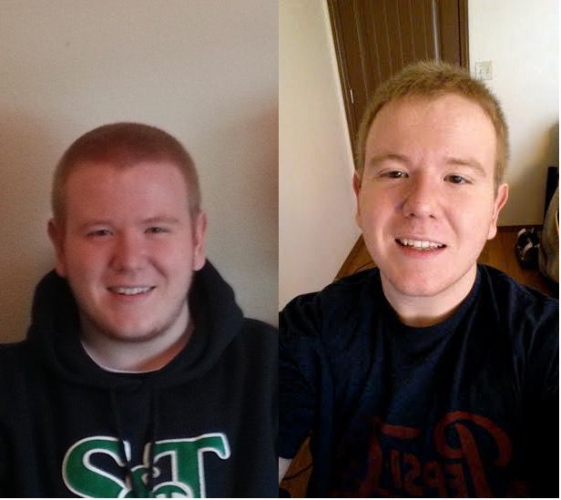 35 lbs Fat Loss Before and After 5'11 Male 250 lbs to 215 lbs