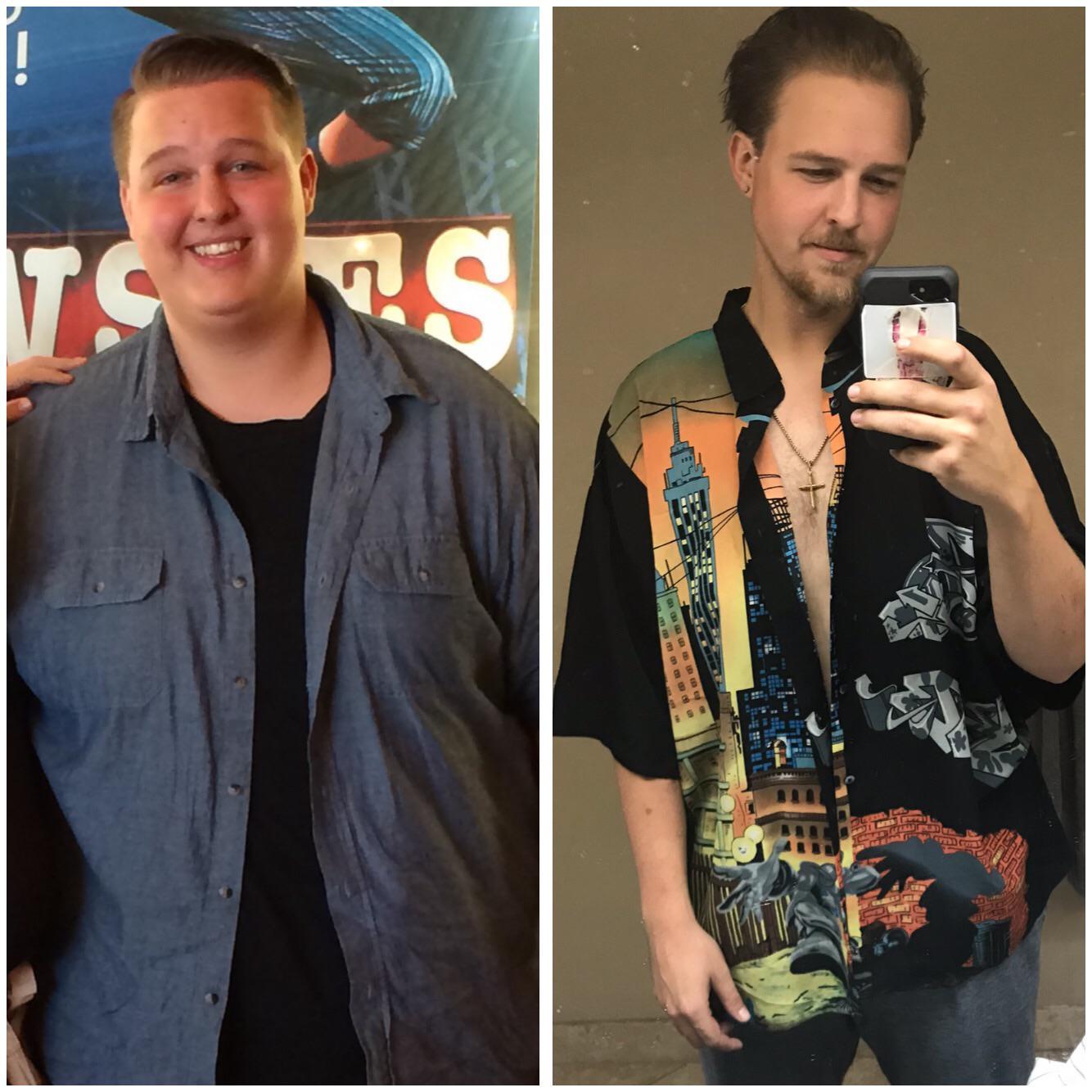 6 feet 7 Male Progress Pics of 110 lbs Fat Loss 350 lbs to 240 lbs