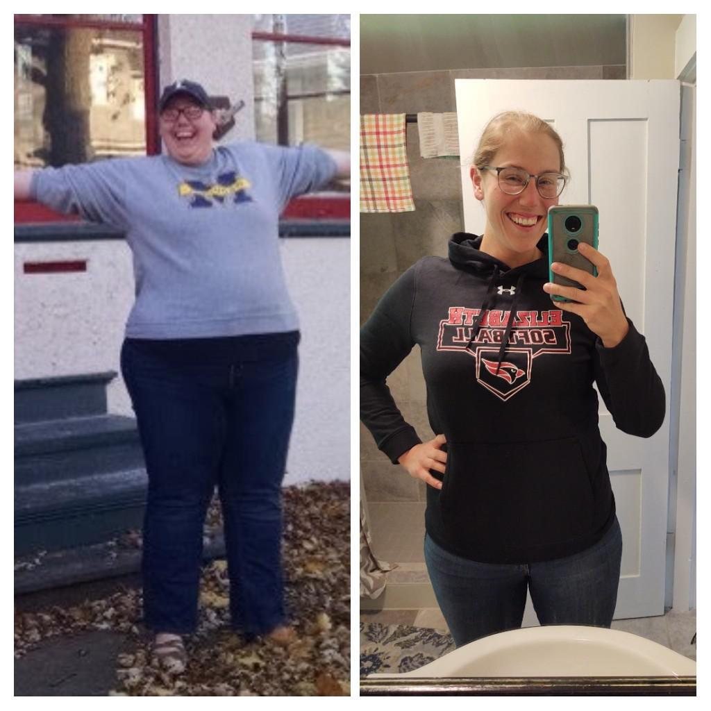 200 lbs Fat Loss Before and After 5'11 Female 403 lbs to 203 lbs