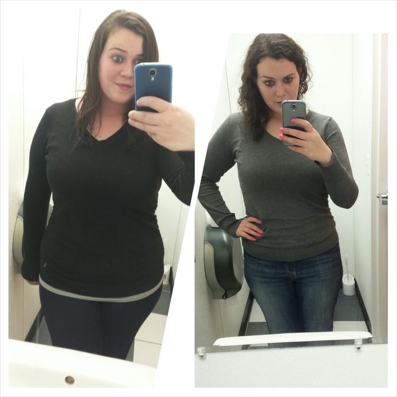 6 foot Female Progress Pics of 40 lbs Weight Loss 245 lbs to 205 lbs