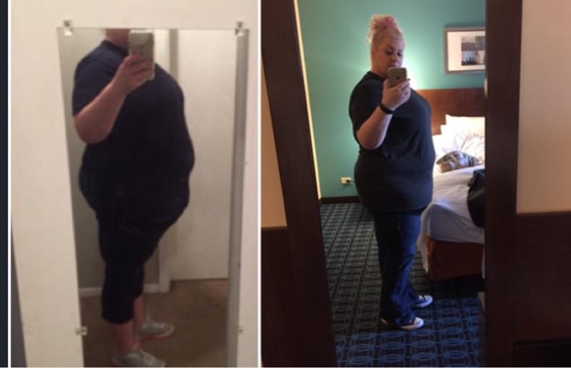 Progress Pics of 50 lbs Fat Loss 5 feet 11 Female 386 lbs to 336 lbs