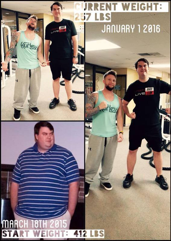 6'4 Male 162 lbs Weight Loss Before and After 412 lbs to 250 lbs